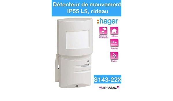 Hager - Detector movimiento ip55 ls radio cortina 10m: Amazon.es: Bricolaje y herramientas