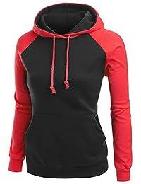 DATANE Women's Pullover Hoodie Funnel Neck Pocket Long Sleeve Hooded Sweatshirt