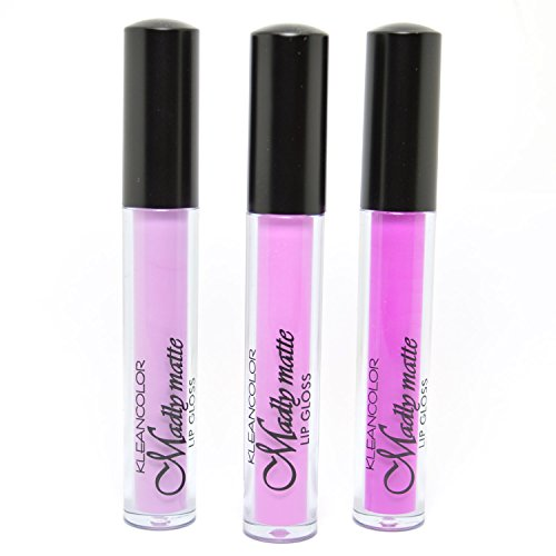 KLEANCOLOR 3 SHADES MADLY MATTE LIP GLOSS FRENCH LILAC LIGHT