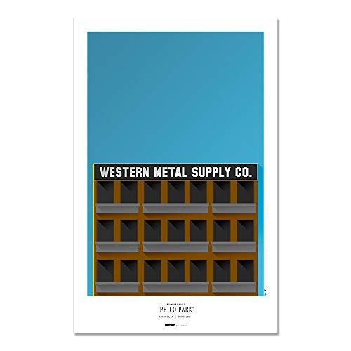 (Petco Park - San Diego Padres - Minimalist Art Poster Print (11X17 Inches))
