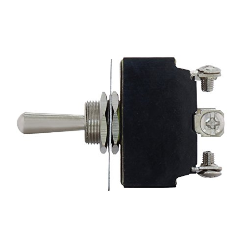 United Pacific 40003 6 Pin, 10Amp - 125Volts. 6Amp - 250Volts, On - Off - On Metal Toggle Switch W/ 6 Screw Terminals