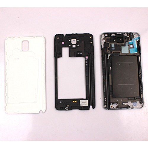 Middle Housing Assembly - OEM Front Middle Frame Assembly Housing Cover For Samsung Galaxy Note 3 N9005 (White For Samsung Note 3 N900)