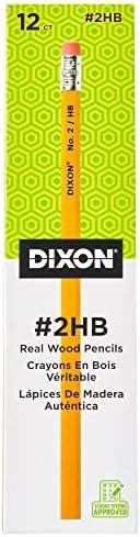 Dixon No. 2 Yellow Pencils, Wood-Cased, Black Core, 12-Count (14402)