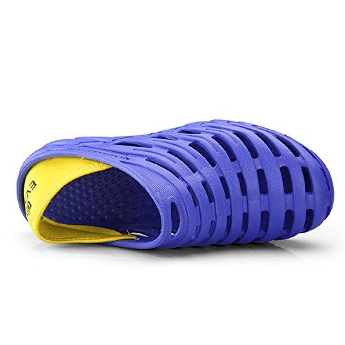 Clogs Aqua Outdoor Tqgold Taglia blu Beach Sandali Pantofole Shoes Mens Sport on Summer 6 Slip Zpqq5vwF4