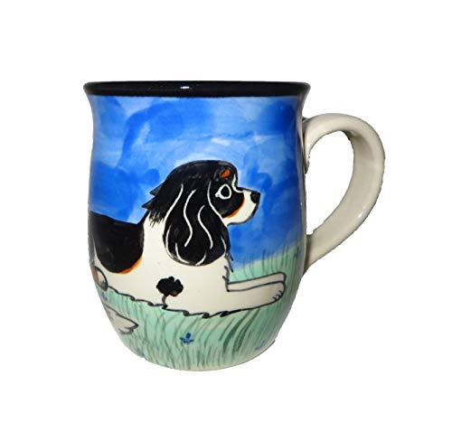 - Karen Donleavy Designs Deluxe Mug TRI Cavalier King Charles Spaniel