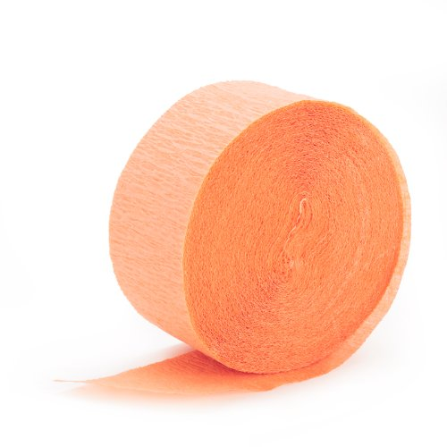 Peach Crepe Paper (Crepe Paper Streamers Orange compare prices)