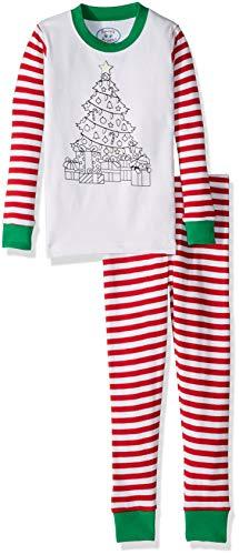 - Sara's Prints Kids' Big ColorMe PJ's, Christmas Tree, 8