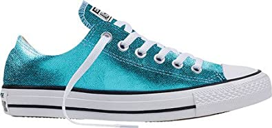 56eb6e36aa5190 Image Unavailable. Image not available for. Color  Converse Chuck Taylor All  Star Ox Sneakers Fresh Cyan Black White Size 10.5 Men