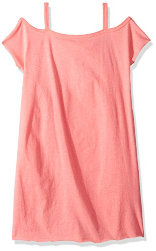 Splendid Spring - Splendid Girls' Big Shoulder Dress, Electric Pink 7/8