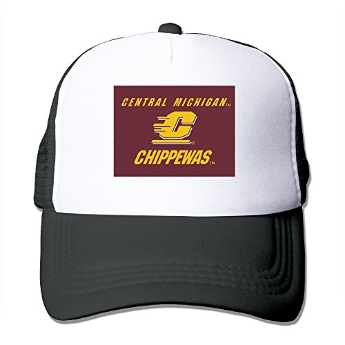XSSYZ Central Michigan University Seal Trucker Hat Mesh Cap Black