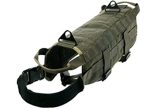 Pety Pet Dog Harness Tactical (Ranger Green, (Zoey Green Camo)