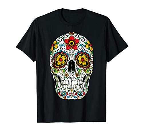 Day Of The Dead Sugar Skull Funny Cinco de Mayo Men Women T-Shirt
