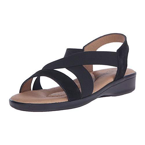 Arcopedico New Women's Montery Sandal Black Suede 38