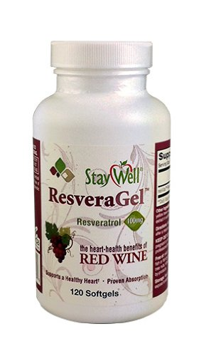 ResVida 100mg Double-Strength Resveratrol (120 Softgels) by Staywell