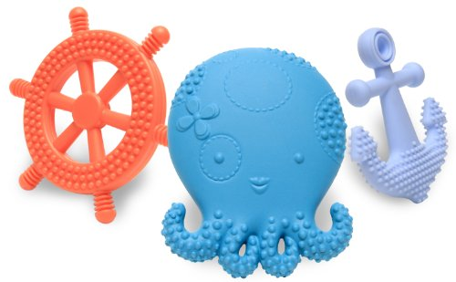 Mayapple Baby – Suri the Octopus and Friends Teether – 3 Teething Toys – Blueberry Set, Baby & Kids Zone