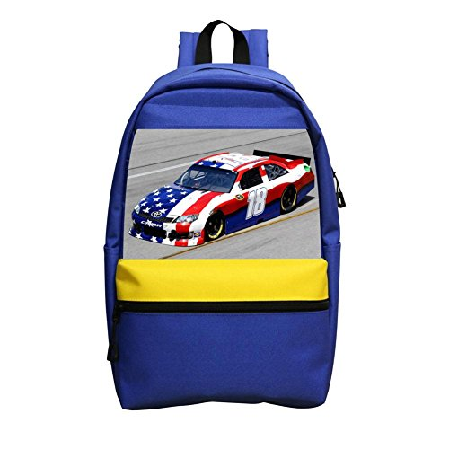 Grrry New Style American Flag No.18 Race Car Lightweight Shoulder School Bag Backpack (No One Gives A Shit About Me)