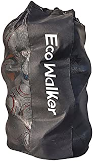 Eco Walker Ball Bag Large Capacity (Holds 16 Soccer Balls) with Adjustable Shoulder Strap and Thick Handle