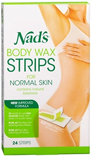 Nad's Hair Removal Strips 24 Each (Pack of 8)