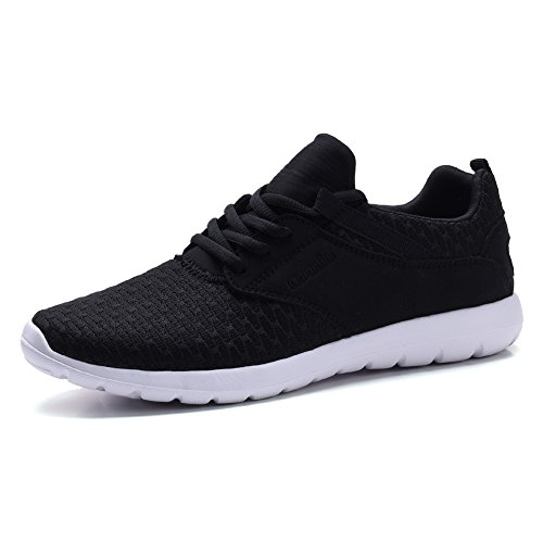COODO CD9005 Men's Lightweight Fashion Sneakers Casual Sport Shoes BLACK/WHITE-11 (Mens Casual Fashion Sneakers)