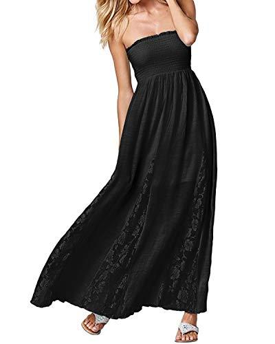 c574d5664847 Fascia Nero Hx Ballo D'onore Spalline Sera Alta Vita Vestito Senza Comode A  Elegante Taglie Donna Lungo Abito Abiti Fashion Damigella Da RURwrq6