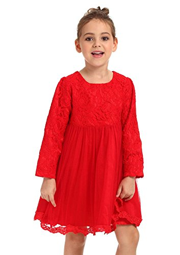 Ephex Toddler Girls Tulle Flower Princess Wedding Party Birthday Dress with (Mean Girl Christmas Costumes)