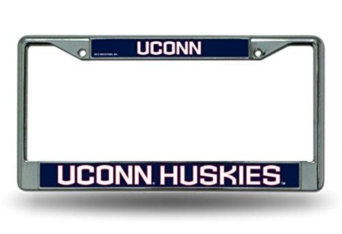 Rico University of Connecticut Uconn Huskies Chrome License Plate Frame