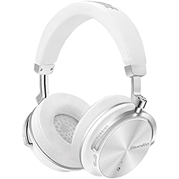 Bluedio T4S (Turbine) Active Noise Cancelling Over-ear Swiveling Wireless Bluetooth Headphones with Mic (White)