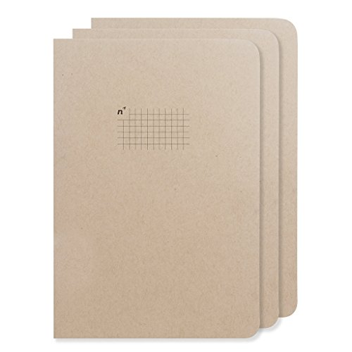 Graph Paper Notebooks | 3 Journals Grid/Gridded Pages of Squares | Premium 7x10 Large Sheets | Made in USA - Paper Square Note Pad