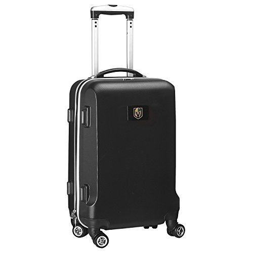 Denco NHL Vegas Golden Knights Carry-On Hardcase Luggage Spinner, Black