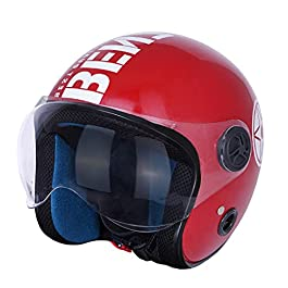 Sage Square Guardian Cruiser Plus || ISI Certified || Open face Helmet for Unisex Adult (Red Glossy)