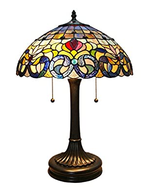 Fine Art Lighting Tiffany Table Lamp, 16 by 23-Inch, 232 Glass Cuts
