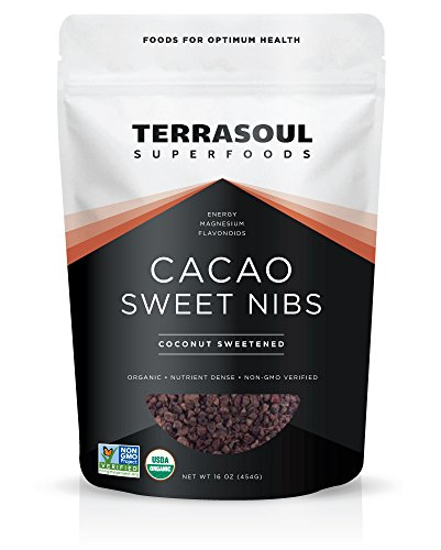 Terrasoul Superfoods Organic Sweet Cacao Nibs, 1 Pound