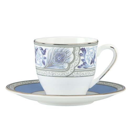 Lenox Marchesa Couture Espresso Cup and Saucer, Sapphire Plume
