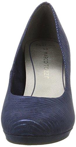 Femmes Tozzi Marine Marco Pompes Bleu peigne La 890 Des Plate forme 22435 RtCXqAw