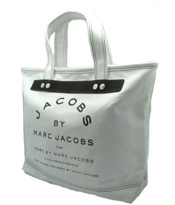 Marc By Marc Jacobs Small Canvas Jacobs Tote White, Bags Central