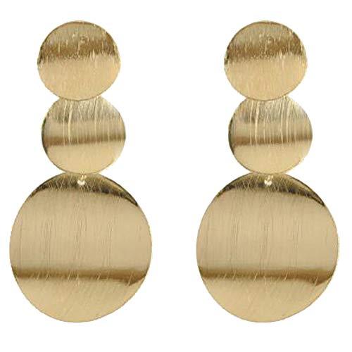 Round Dangle Earrings Alloy Disc Fashion Earrings for - Round Dress Earrings