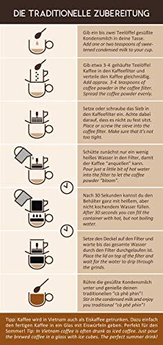 1 Kaffeetasse Kaffeepresse VietBeans vietnamesischer Kaffeefilter Vietnam Cafe Phin Kaffeesieb Wiederverwendbar aus rostfreiem Stahl