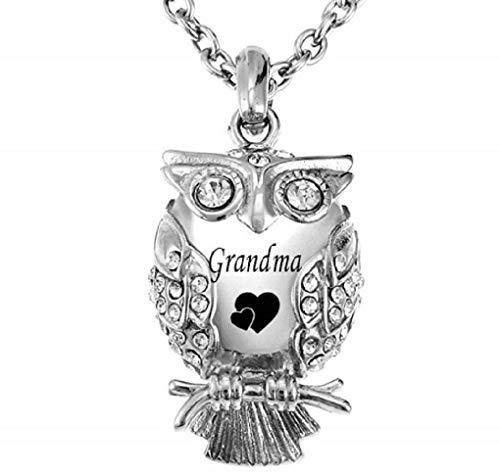 - MEMORIALU Cremation Owl Urn Necklace for Ashes Grandma Keepsake Memorial Pendant Necklaces