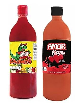 Salsas Castillo Amor Variety Pack- (1) Salsa Chamoy Sauce 33oz (1)