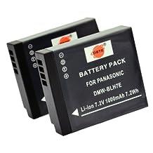 DSTE® 2x DMW-BLH7 Replacement Li-ion Battery for Panasonic Lumix DMC-GM1 GM1K GM5 GF7 GF7K DMC-LX10 DMC-LX15 Camera as DMW-BLH7E
