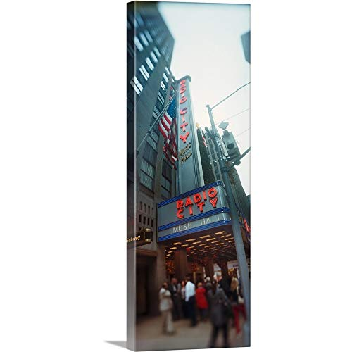 (GREATBIGCANVAS Gallery-Wrapped Canvas Entitled People at a Stage Theater Radio City Music Hall Rockefeller Center Manhattan New York City New York State by 36