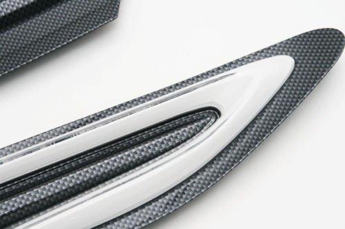 For Scion FRS Subaru BRZ Toyota 86 GT86 Carbon look White LED Fender Garnish