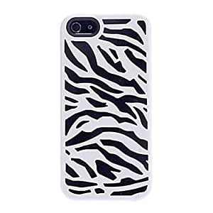 LZX Zebra-stripe Double Layers Design Hard Case for iPhone 5/5S (Assorted Colors)