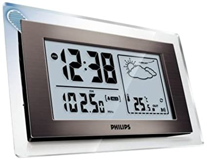 amazon com philips aj260 weather station clock radio discontinued rh amazon com Philips Clock Radio Time Set Timex Indiglo Alarm Clock Manual