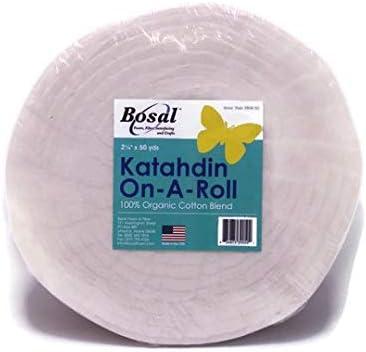 Bosal Katahdin 100/% Organic Cotton Blend Batting On A Roll 2.5 inches x 50 yards