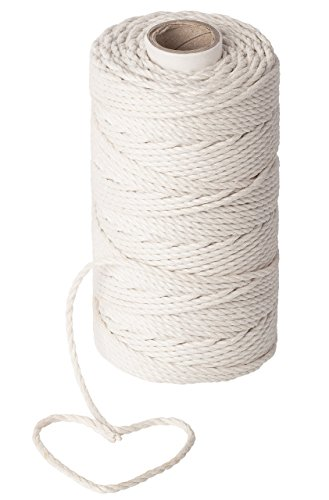 Macrame Supplies 3mm Cotton Cord - Best for Plant Hanger Wall Hanging Craft Making - 3mm Twine String for Crafts by Stillness Crafts