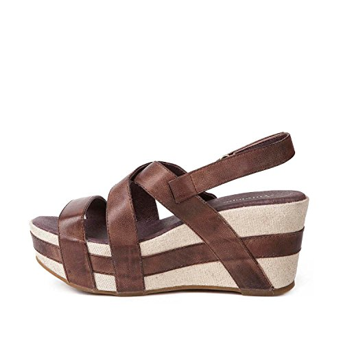 Antelope Women's 819 Leather Crossed Classics Sandals Brown cost sale online auYXJi8