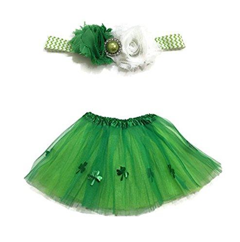 Rush Dance Ballerina Girls Dress-Up Kelly Green St Patrick's Day Tutu & (St Patricks Day Dress Up)