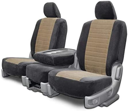 Custom Seat Covers For Volvo Xc90 Front Low Back Charcoal Taupe Ttvelour