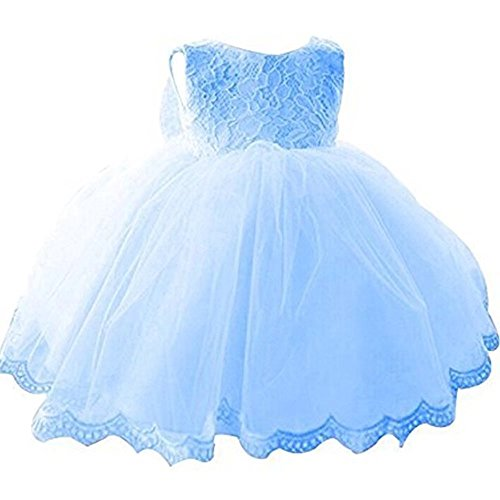 New York Baby Gown (ZAH Baby Girl Dress Christening Baptism Gowns Sequined Formal Dress(Blue,0-3M))
